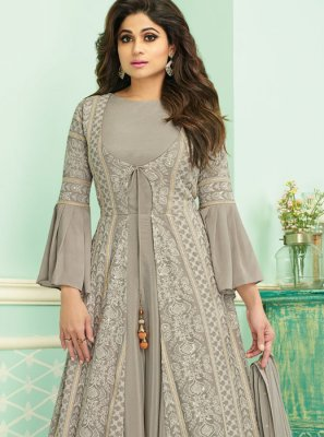 Resham Party Anarkali Salwar Kameez
