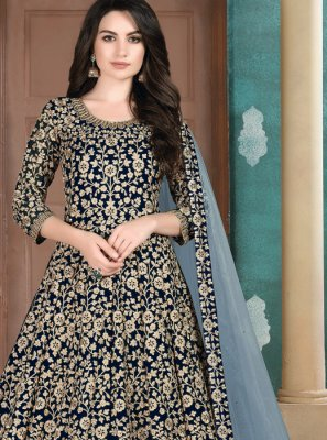 Resham Party Trendy Salwar Suit