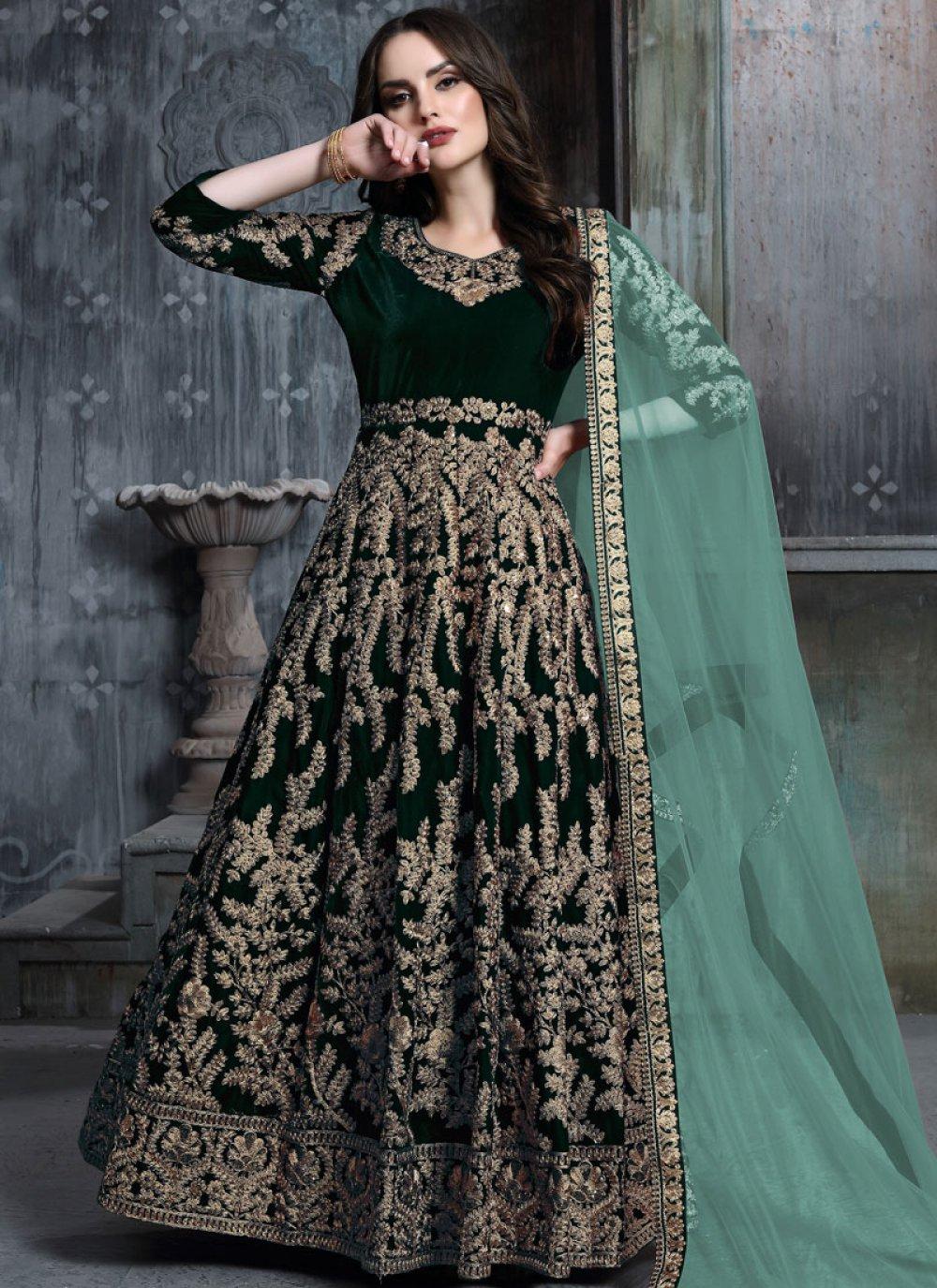 Resham Reception Anarkali Salwar Suit