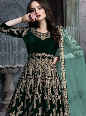 Resham Reception Anarkali Salwar Suit