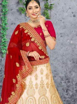 Resham Satin Designer Lehenga Choli