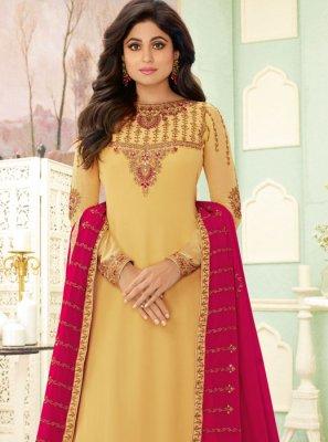 Resham Shamita Shetty Trendy Salwar Kameez