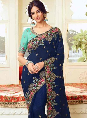 Resham Silk Traditional Designer Saree