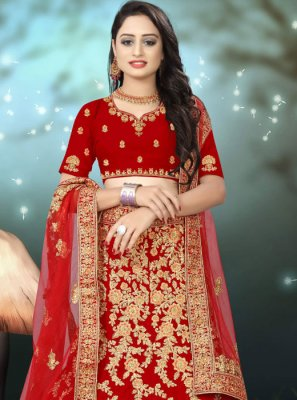 Resham Wedding A Line Lehenga Choli