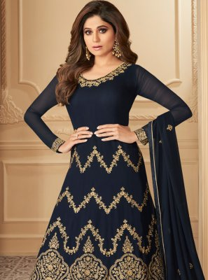 Resham Wedding Floor Length Anarkali Salwar Suit