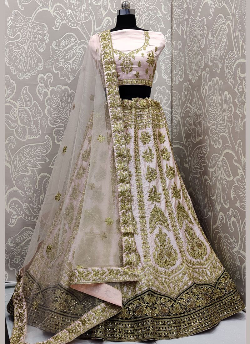 Rose Pink Diamond Reception A Line Lehenga Choli