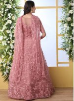 Rose Pink Party Designer Gown