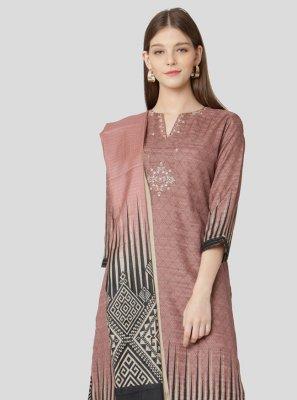 Rose Pink Printed Sangeet Salwar Suit