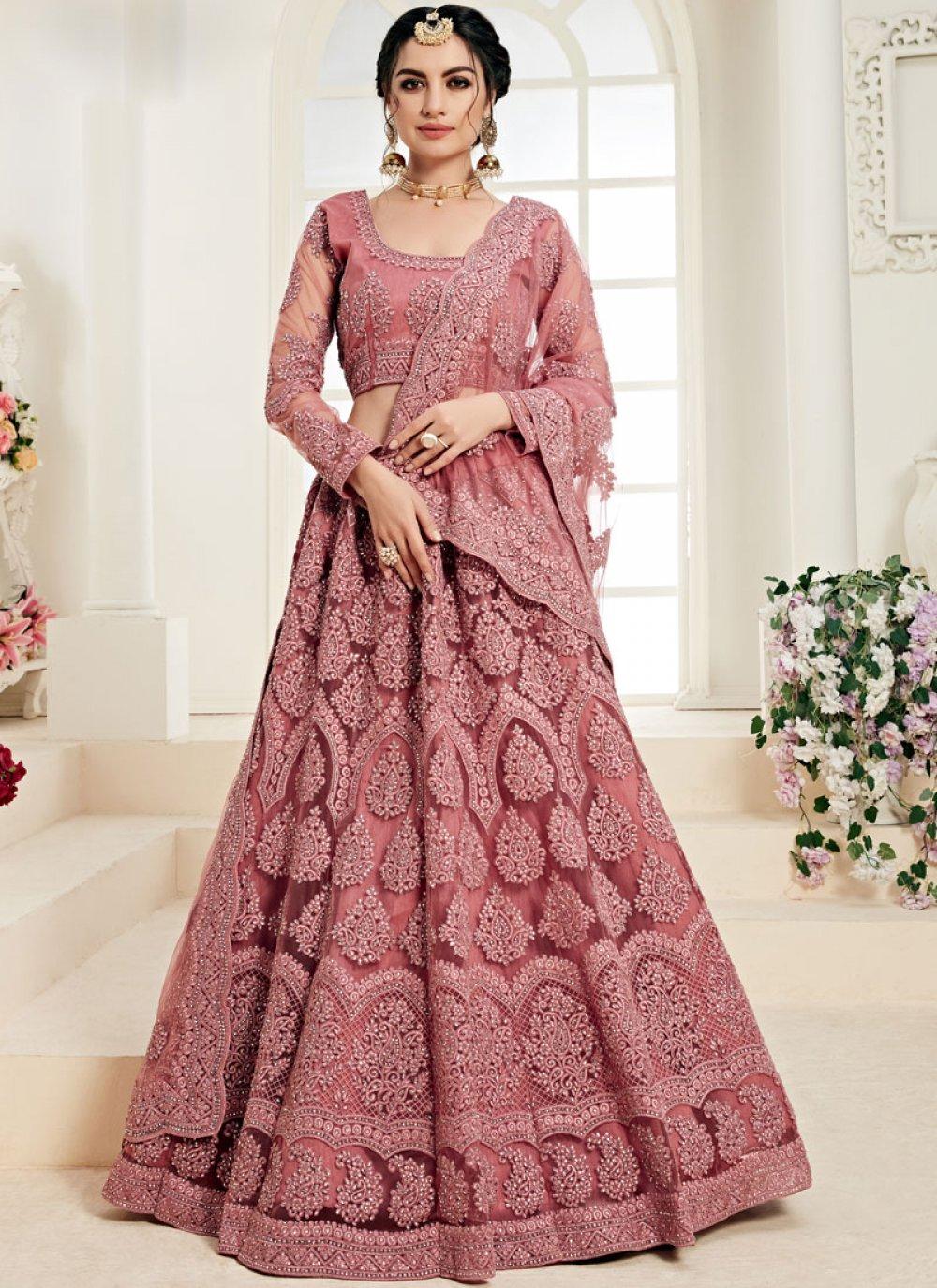 Rose Pink Trendy Designer Lehenga Choli
