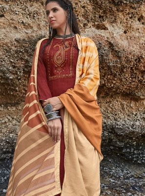 Rust Color Salwar Suit