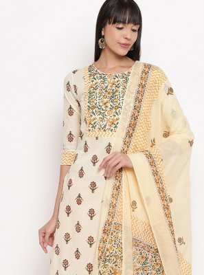 Salwar Kameez Printed Cotton in Multi Colour