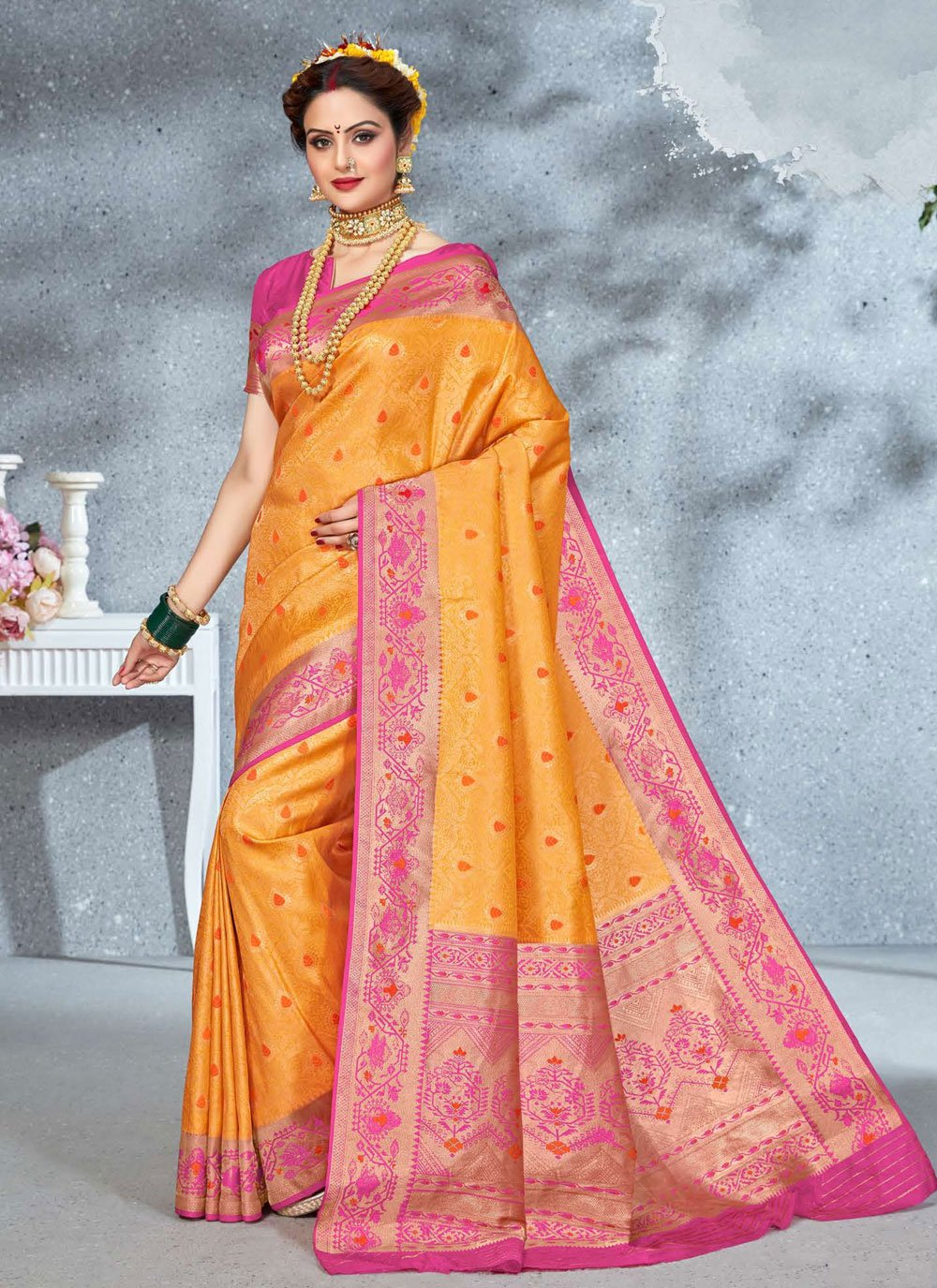 Saree For Mehndi
