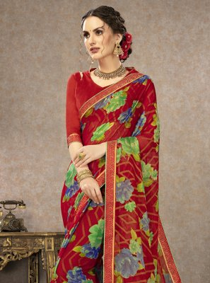 Saree Printed Fancy Fabric in Multi Colour