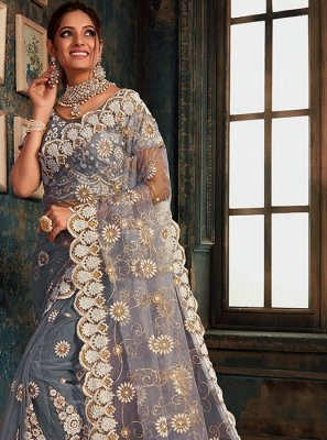 Saree Zari Net in Grey