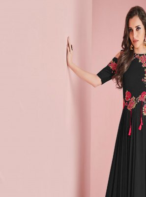 Satin Black Salwar Suit