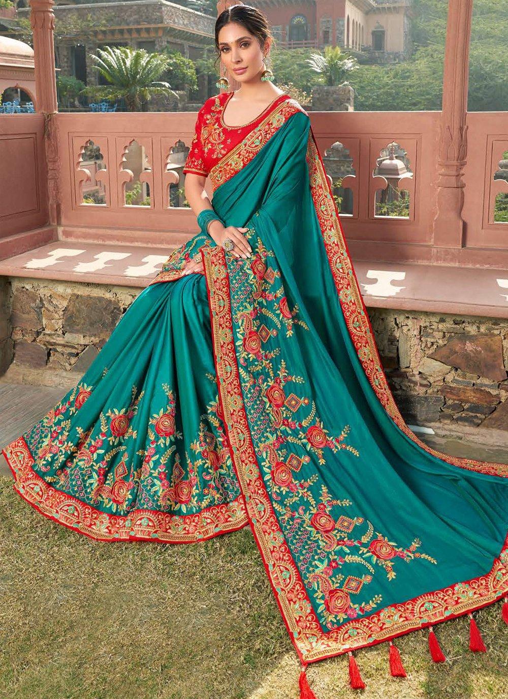 Satin Bollywood Saree