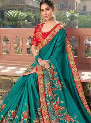 Satin Bollywood Saree