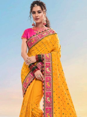 Satin Designer Saree