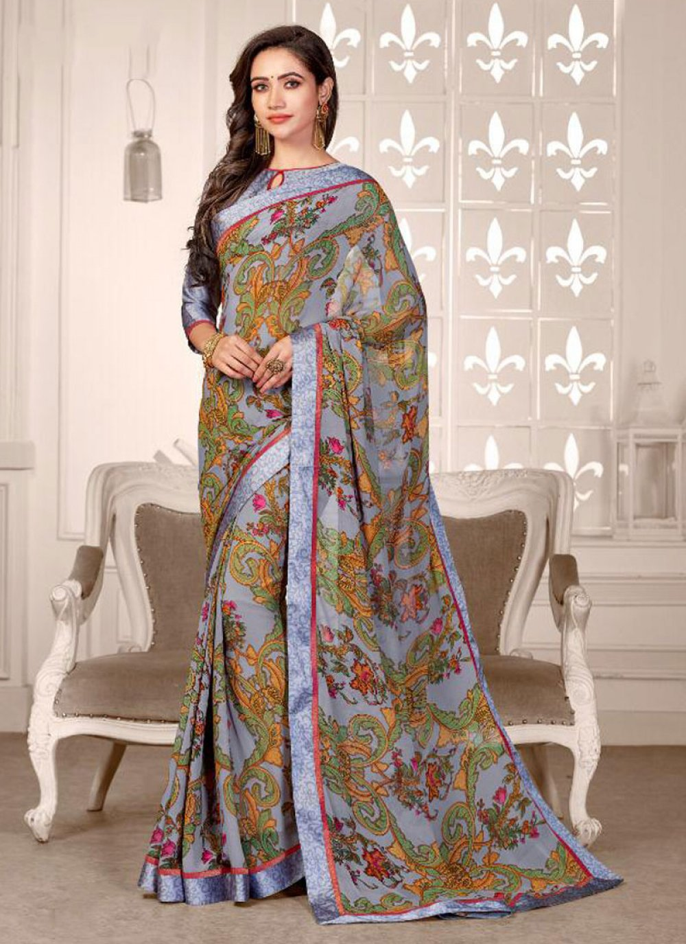 Satin Festival Saree