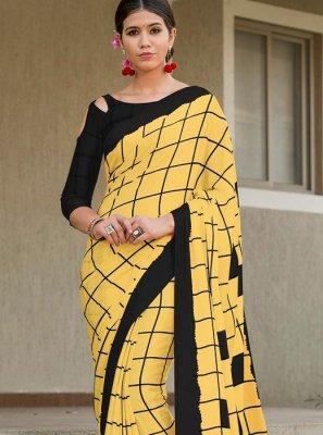 Satin Silk Designer Saree