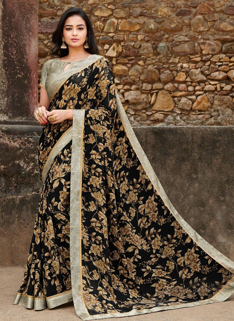 Satin Silk Festival Silk Saree