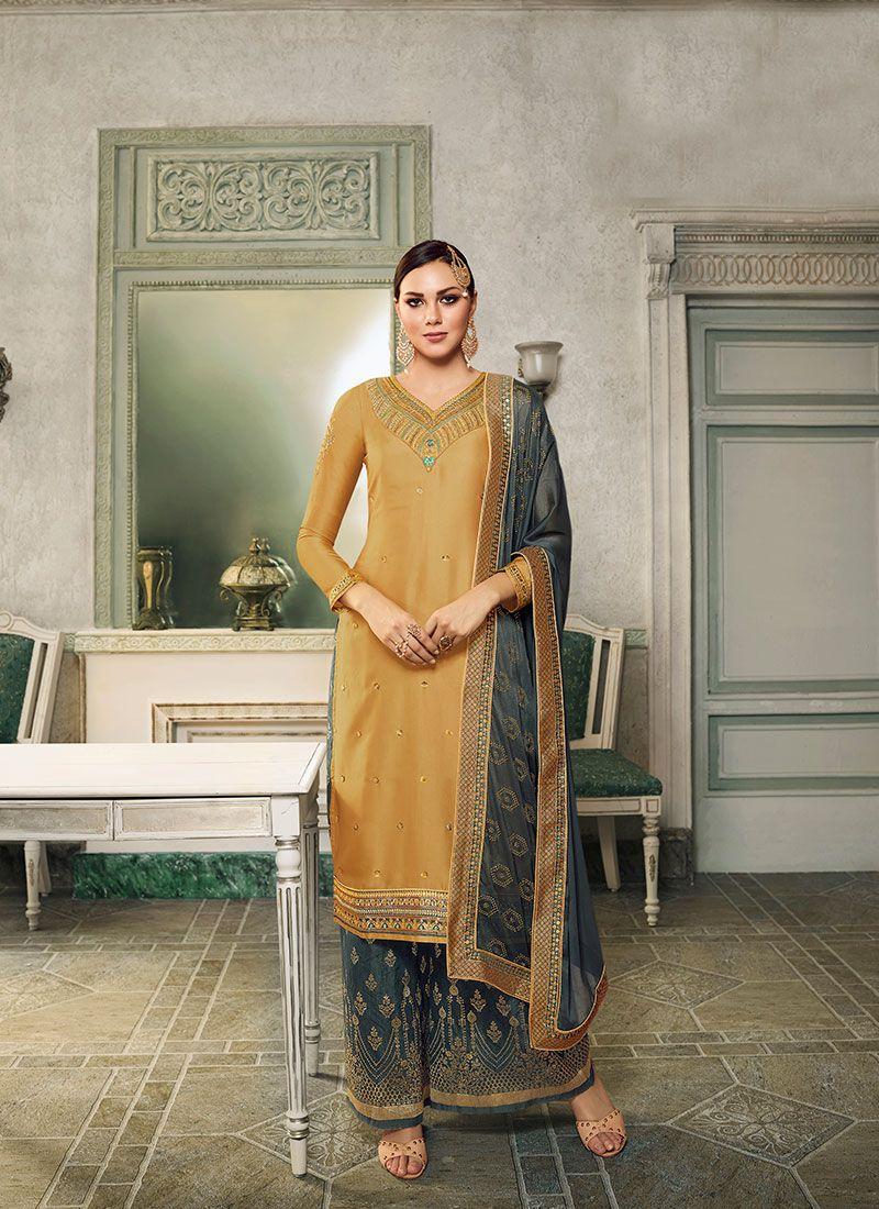 Satin Silk Party Trendy Salwar Kameez