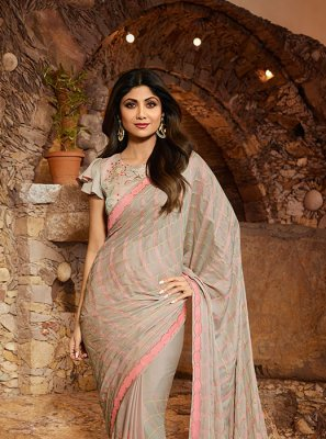 Satin Silk Reception Classic Designer Saree
