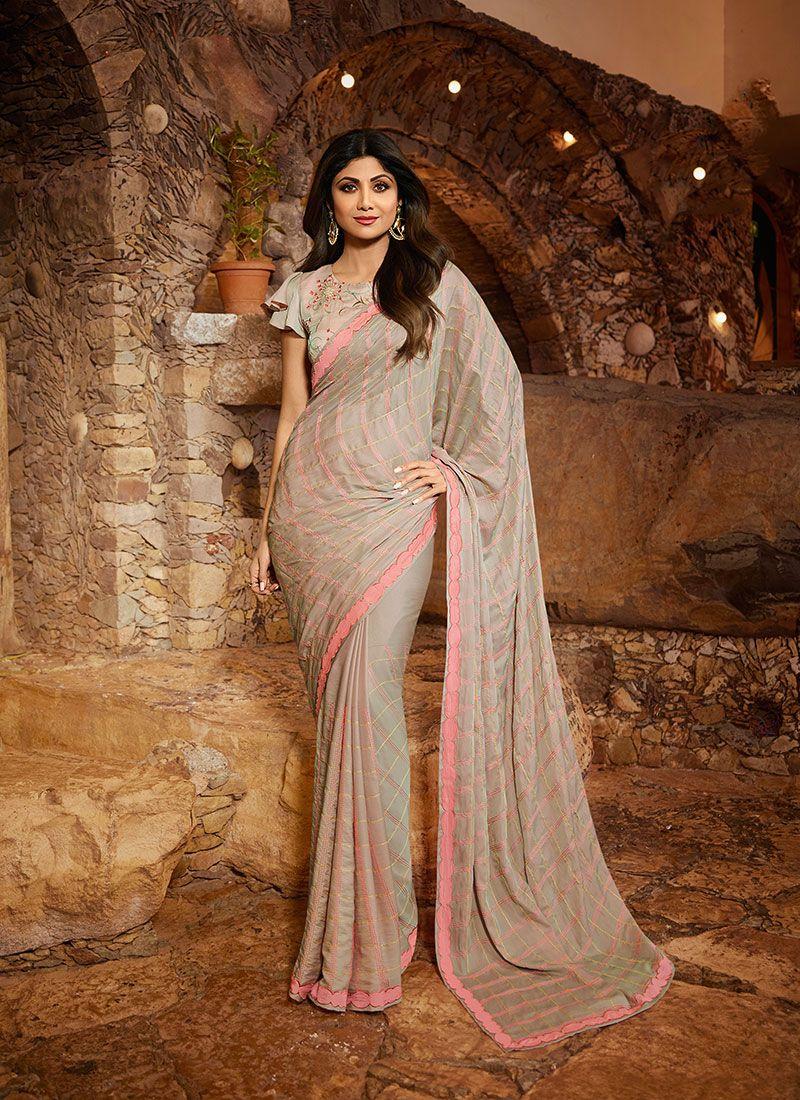 Satin Silk Reception Classic Designer Saree