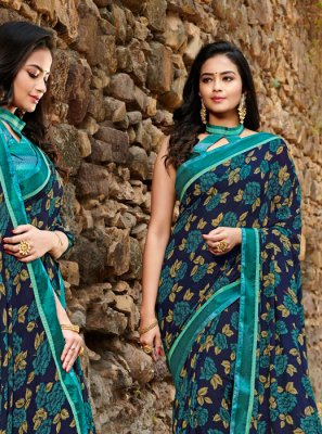 Satin Silk Silk Saree in Teal