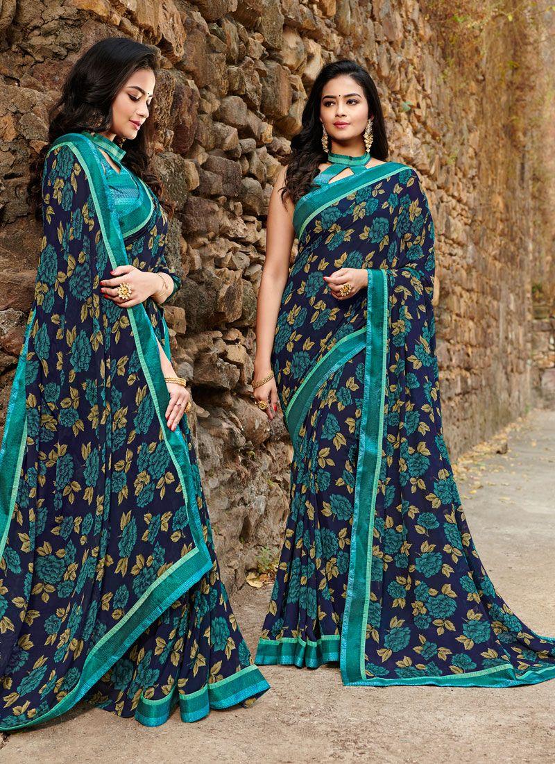 Satin Silk Silk Saree in Teal