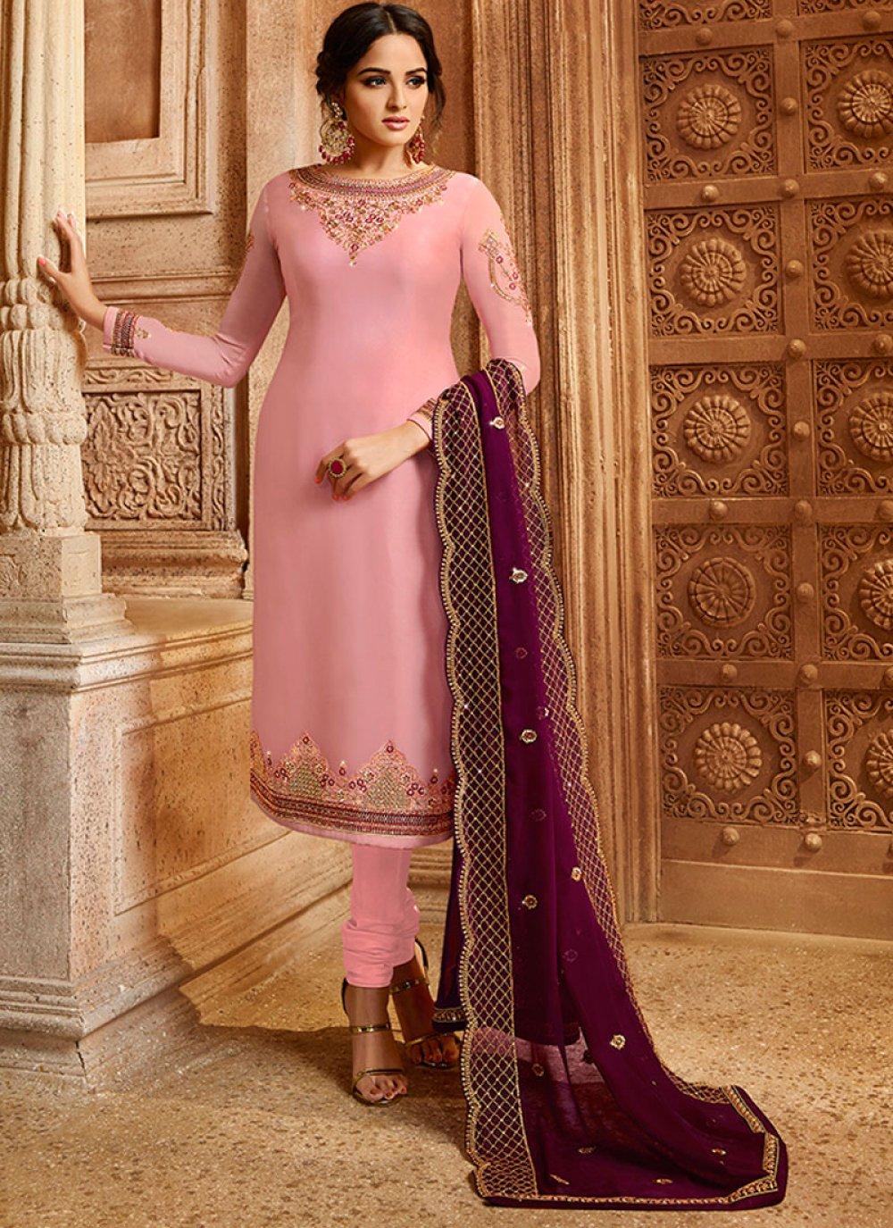 Satin Stone Salwar Suit