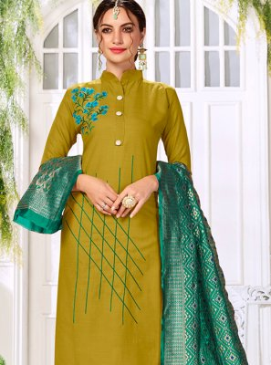 Sea Green Casual Trendy Churidar Salwar Suit