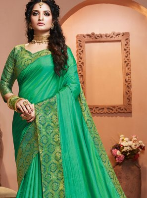 Sea Green Classic Saree