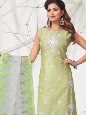 Sea Green Color Churidar Designer Suit