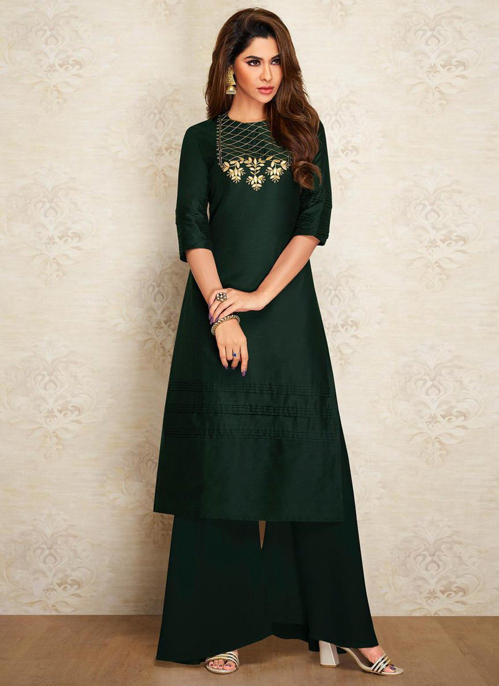 Sea Green Color Designer Kurti