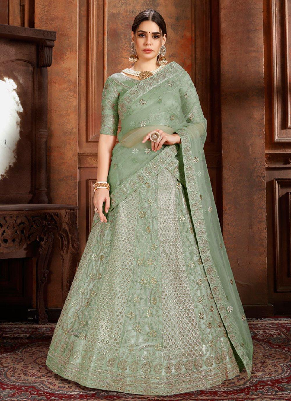 Sea Green Color Designer Lehenga Choli