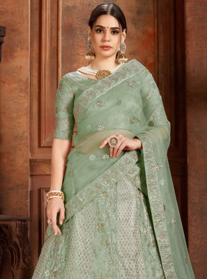 Sea Green Color Designer Lehenga Choli