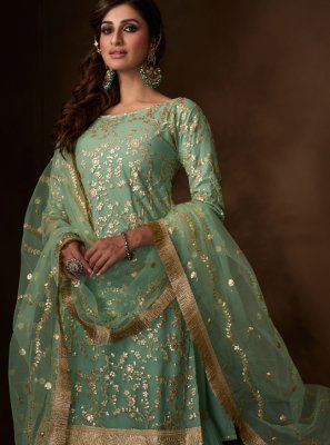 Sea Green Color Salwar Suit
