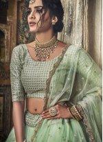 Sea Green Embroidered Designer Lehenga Choli