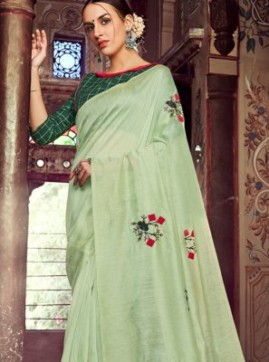Sea Green Festival Casual Saree