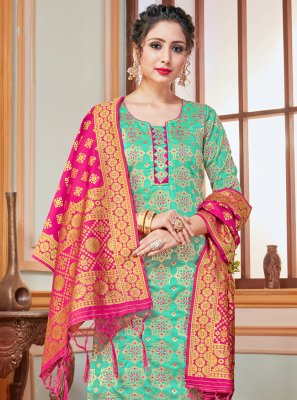 Sea Green Festival Salwar Suit