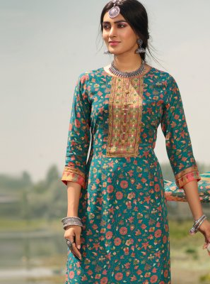 Sea Green Party Designer Palazzo Suit