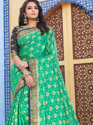 Sea Green Party Designer Saree