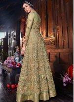 Sea Green Party Floor Length Anarkali Salwar Suit