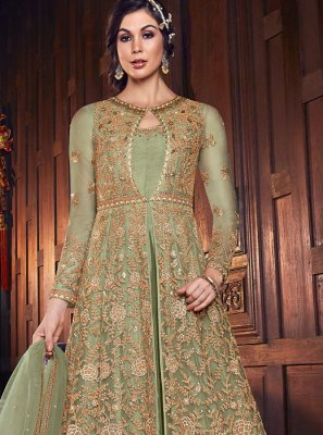 Sea Green Party Floor Length Anarkali Salwar Suit