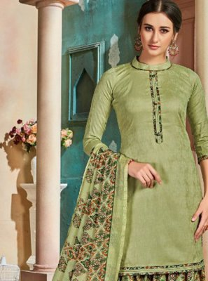 Sea Green Party Patiala Suit