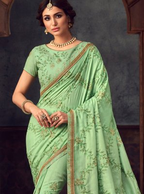 Sea Green Party Trendy Saree