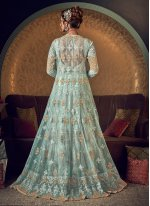 Sea Green Reception Floor Length Anarkali Suit