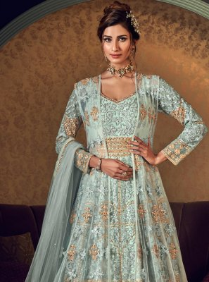 Sea Green Reception Floor Length Anarkali Suit