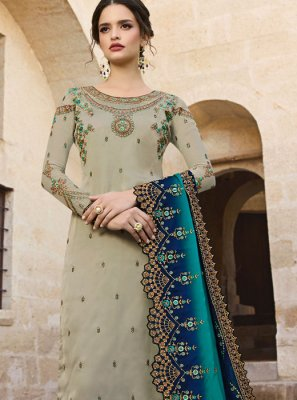 Sea Green Reception Salwar Kameez